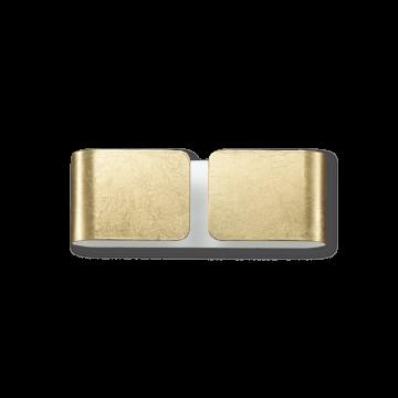Настенный светильник Ideal Lux CLIP AP2 MINI ORO 091129, 2xG9x40W, матовое золото, металл, стекло