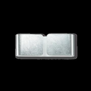 Настенный светильник Ideal Lux CLIP AP2 MINI ARGENTO 091136, 2xG9x40W, серебро, металл, стекло
