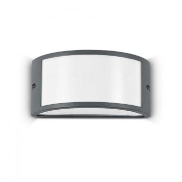 Настенный светильник Ideal Lux REX-1 AP1 ANTRACITE 092409, IP44, 1xE27x60W, темно-серый, металл, металл с пластиком, пластик