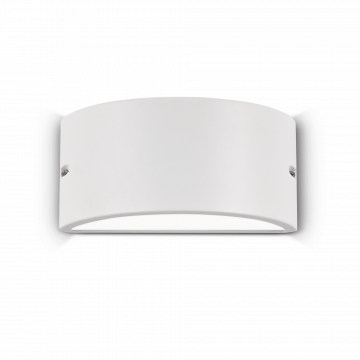 Настенный светильник Ideal Lux REX-2 AP1 BIANCO 092416, IP44, 1xE27x60W, белый, металл, металл с пластиком, пластик