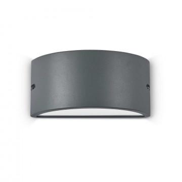 Настенный светильник Ideal Lux REX-2 AP1 ANTRACITE 092423, IP44, 1xE27x60W, темно-серый, металл, металл с пластиком, пластик