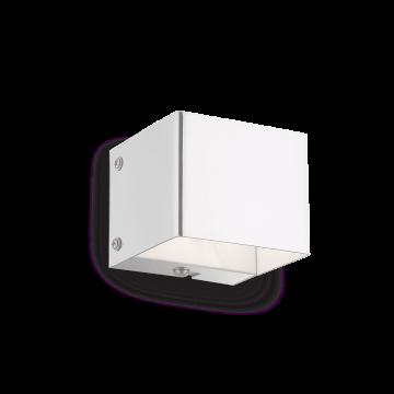 Настенный светильник Ideal Lux FLASH AP1 BIANCO 095264, 1xG9x40W, белый, металл