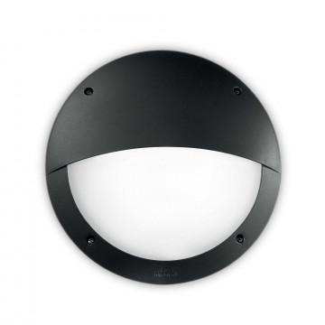 Настенный светильник Ideal Lux LUCIA-2 AP1 NERO 096698, IP66, 1xE27x23W, черный, пластик