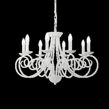 Подвесная люстра Ideal Lux SEM SP8 092782, 8xE14x40W, белый, металл