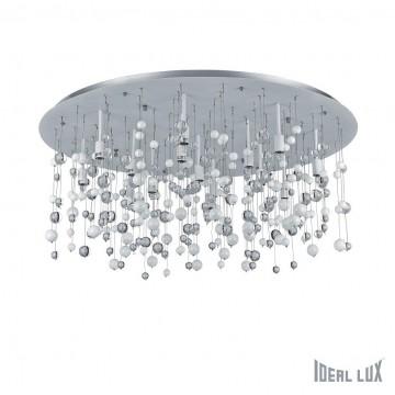 Люстра-каскад Ideal Lux NEVE PL15 BIANCO 101194, 15xG9x40W, белый, прозрачный, металл, стекло
