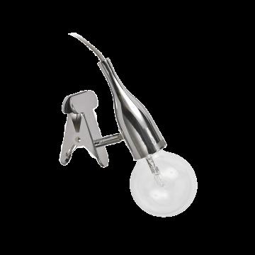 Светильник на прищепке Ideal Lux PICCHIO AP1 CROMO 098951, 1xE27x60W, хром, металл