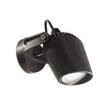 Потолочный светильник с регулировкой направления света Ideal Lux MINITOMMY AP1 NERO 096476, IP66, 1xGU10x4,5W, черный, пластик