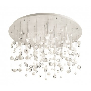 Люстра-каскад Ideal Lux NEVE PL12 BIANCO 101187, 12xG9x40W, белый, прозрачный, металл, стекло