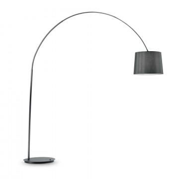 Торшер Ideal Lux DORSALE PT1 TOTAL BLACK 091983, 1xE27x60W, черный, металл, текстиль