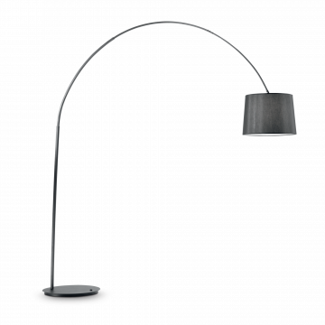 Торшер Ideal Lux DORSALE PT1 TOTAL BLACK 091983, 1xE27x60W, черный, металл, текстиль