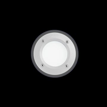 Встраиваемый настенный светильник Ideal Lux LETI PT1 ROUND BIANCO 096544, IP66, 1xGX53x3W, белый, пластик