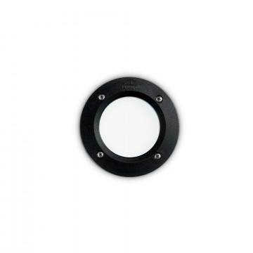 Встраиваемый настенный светильник Ideal Lux LETI PT1 ROUND NERO 096551, IP66, 1xGX53x3W, черный, пластик