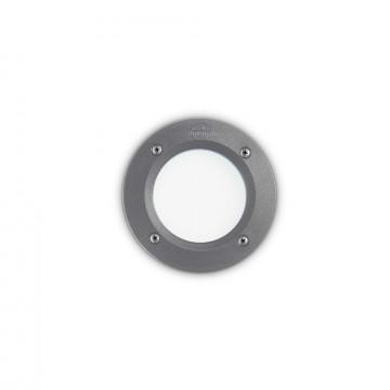 Встраиваемый настенный светильник Ideal Lux LETI PT1 ROUND GRIGIO 096568, IP66, 1xGX53x3W, темно-серый, пластик