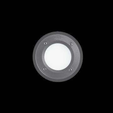 Встраиваемый настенный светильник Ideal Lux LETI PT1 ROUND GRIGIO 096568, IP66, 1xGX53x3W, белый, серый, пластик