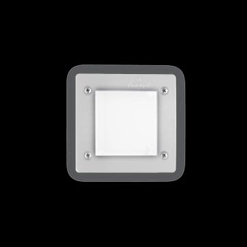 Встраиваемый настенный светильник Ideal Lux LETI PT1 SQUARE BIANCO 096575, IP66, 1xGX53x3W, белый, пластик