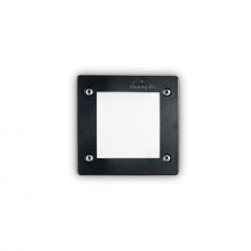 Встраиваемый настенный светильник Ideal Lux LETI PT1 SQUARE NERO 096582, IP66, 1xGX53x3W, черный, пластик