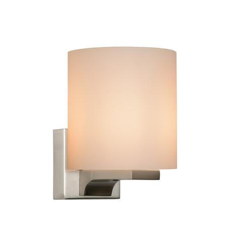 Бра Lucide Jenno 04204/01/12, IP44, 1xG9x33W, никель, белый, металл, стекло