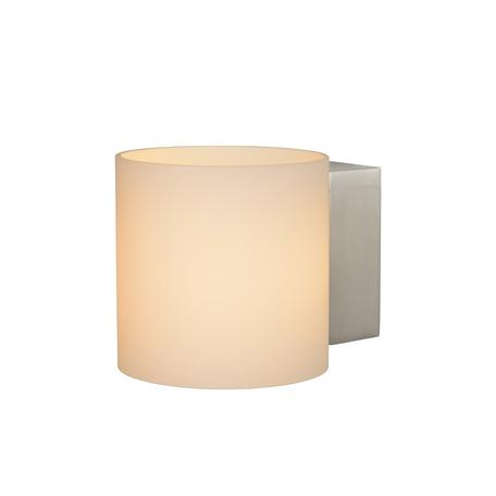 Настенный светодиодный светильник Lucide Jelte-LED 04203/04/12, IP44, LED 4W 3000K 200lm CRI80, никель, белый, металл, стекло
