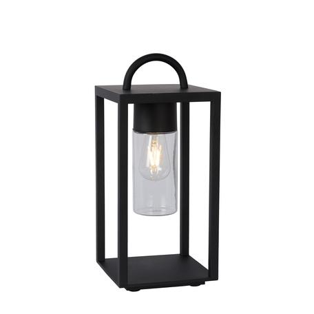 Садовый светильник Lucide Glimmer 14882/01/30, IP44, 1xE27x60W, прозрачный, черный, металл со стеклом