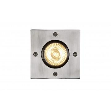Встраиваемый светильник Lucide Biltin 11800/01/12, IP67, 1xGU10x35W, матовый хром, металл