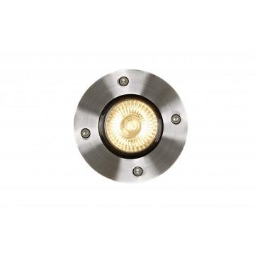 Встраиваемый светильник Lucide Biltin 11801/01/12, IP67, 1xGU10x35W, матовый хром, металл
