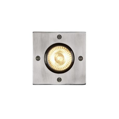 Встраиваемый в уличное покрытие светильник Lucide Biltin 11800/01/12, IP67, 1xGU10x35W, матовый хром, металл
