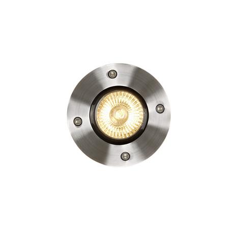 Встраиваемый в уличное покрытие светильник Lucide Biltin 11801/01/12, IP67, 1xGU10x35W, матовый хром, металл