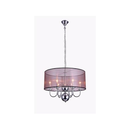 Основание подвесной люстры Newport 1316/C без абажуров, 6xE14x60W, хром, металл со стеклом