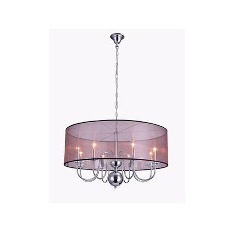 Основание подвесной люстры Newport 1318/C без абажуров, 8xE14x60W, хром, металл со стеклом