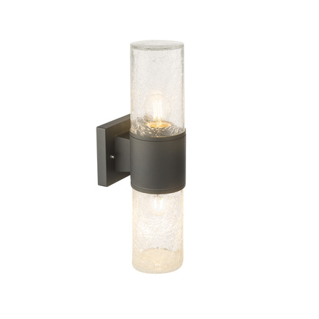 Настенный светильник Globo Nina 32410W, IP54, 2xE27x60W, металл, стекло