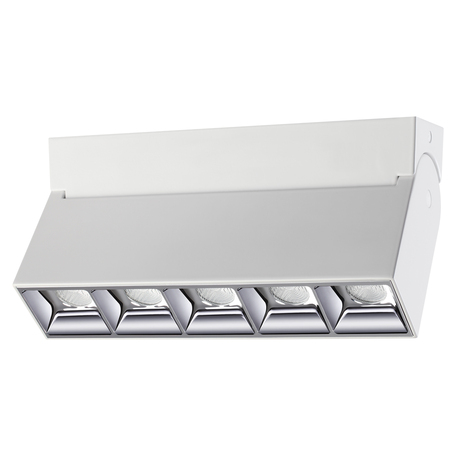 Потолочный светодиодный светильник с регулировкой направления света Novotech Eos 358320, IP33, LED 25W 4000K 3000lm, белый, металл
