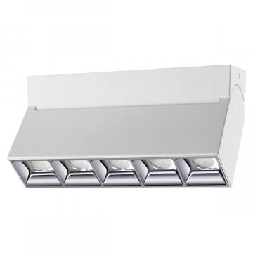 Потолочный светодиодный светильник с регулировкой направления света Novotech Over Eos 358320, IP33, LED 25W 4000K 3000lm, белый, металл
