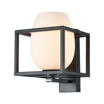 Бра Maytoni Cabin MOD252-WL-01-B, 1xE14x40W, черный, белый, металл, стекло
