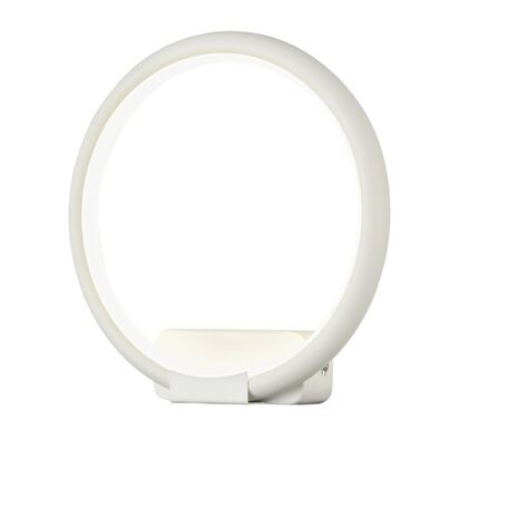 Настенный светодиодный светильник Maytoni Nola MOD807-WL-01-12-W, LED 12W 4100K 800lm CRI80, белый, металл, металл с пластиком, пластик