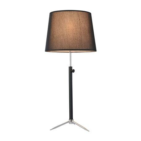 Настольная лампа Maytoni Monic MOD323-TL-01-B, 1xE27x40W, черный с хромом, черный, металл, текстиль