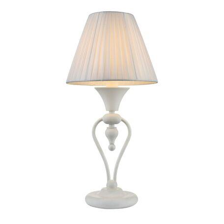 Настольная лампа Maytoni Majorca MOD981-TL-01-W, 1xE14x40W, белый, металл с пластиком, текстиль