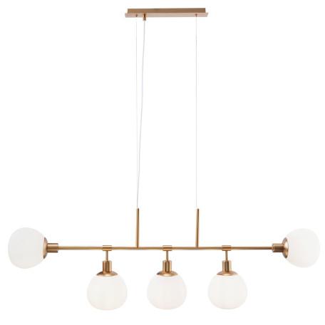 Подвесной светильник Maytoni Erich MOD221-PL-05-G, 5xE14x40W, латунь, белый, металл, стекло