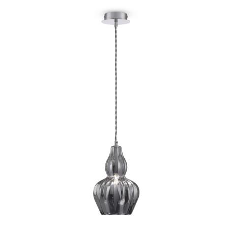 Подвесной светильник Maytoni Eustoma MOD238-PL-01-B, 1xE14x40W, никель, зеркальный, металл, стекло