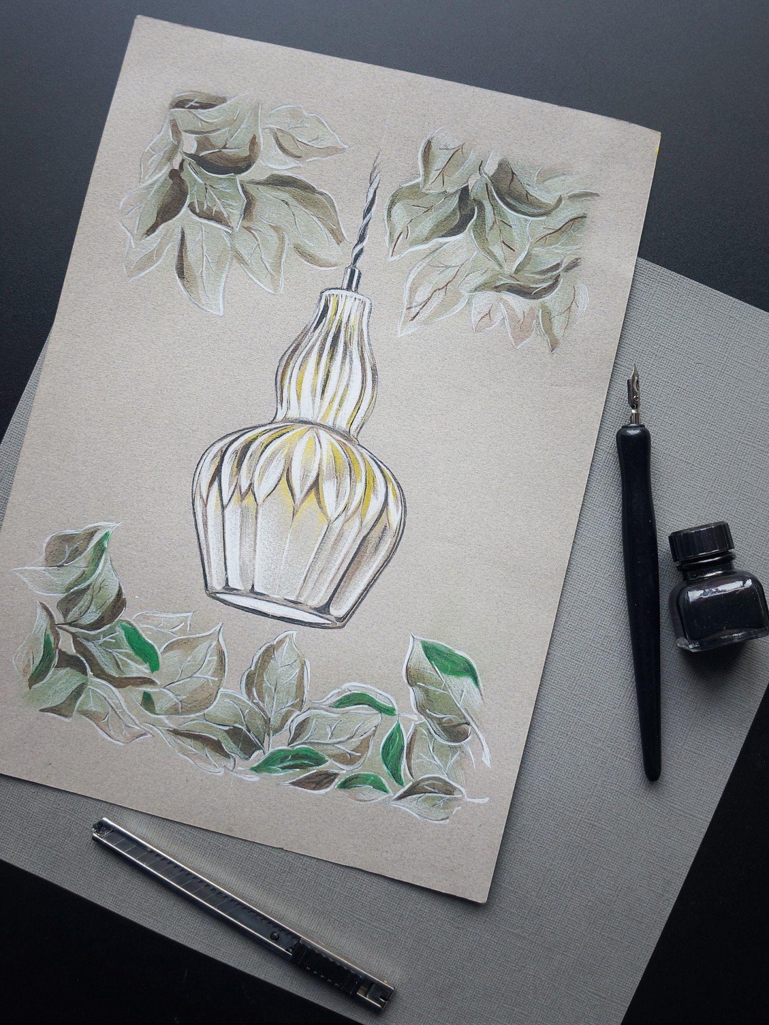 Подвесной светильник Maytoni Eustoma MOD238-PL-01-BL, 1xE14x40W, никель, голубой, металл, стекло - фото 5