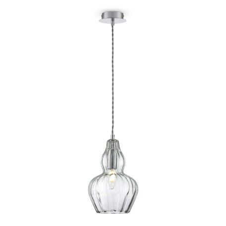 Подвесной светильник Maytoni Eustoma MOD238-PL-01-GN, 1xE14x40W, никель, зеленый, металл, стекло - миниатюра 1