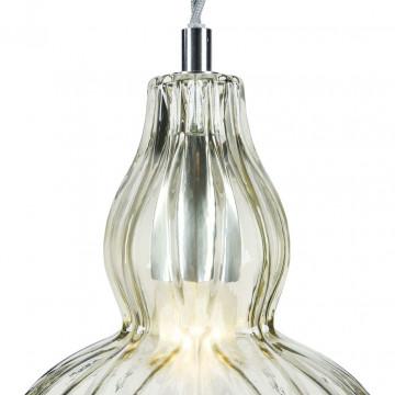 Подвесной светильник Maytoni Eustoma MOD238-PL-01-GN, 1xE14x40W, никель, зеленый, металл, стекло - миниатюра 10