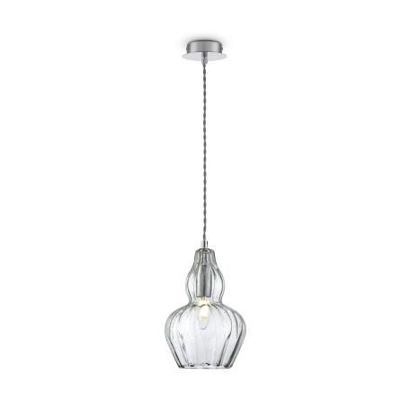 Подвесной светильник Maytoni Eustoma MOD238-PL-01-GN, 1xE14x40W, никель, зеленый, металл, стекло - миниатюра 2