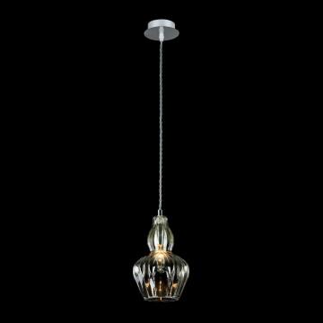 Подвесной светильник Maytoni Eustoma MOD238-PL-01-GN, 1xE14x40W, никель, зеленый, металл, стекло - миниатюра 3