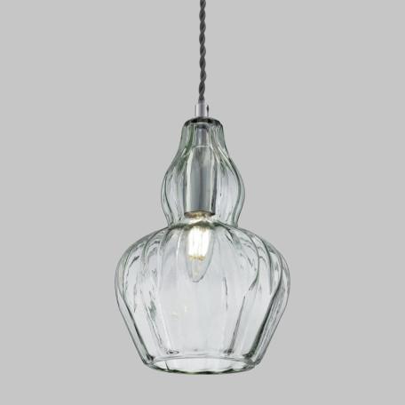 Подвесной светильник Maytoni Eustoma MOD238-PL-01-GN, 1xE14x40W, никель, зеленый, металл, стекло - миниатюра 4
