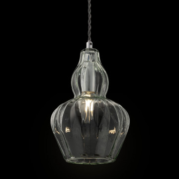 Подвесной светильник Maytoni Eustoma MOD238-PL-01-GN, 1xE14x40W, никель, зеленый, металл, стекло - миниатюра 6