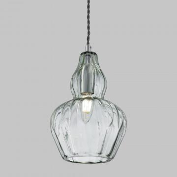 Подвесной светильник Maytoni Eustoma MOD238-PL-01-GN, 1xE14x40W, никель, зеленый, металл, стекло - миниатюра 7