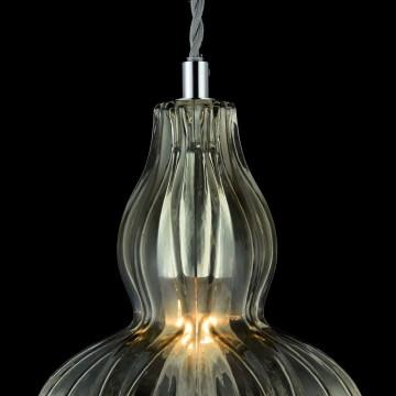 Подвесной светильник Maytoni Eustoma MOD238-PL-01-GN, 1xE14x40W, никель, зеленый, металл, стекло - миниатюра 8