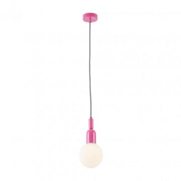Подвесной светильник Maytoni Ball MOD267-PL-01-PN, 1xE14x40W, розовый, белый, металл, стекло