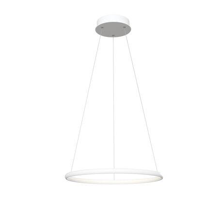 Подвесной светодиодный светильник Maytoni Nola MOD807-PL-01-24-W, LED 24W 4100K 1400lm CRI80, белый, металл, металл с пластиком, пластик