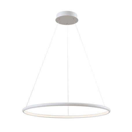 Подвесной светодиодный светильник Maytoni Nola MOD807-PL-01-36-W, LED 36W 4100K 2300lm CRI80, белый, металл, металл с пластиком, пластик